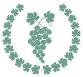 Grapes green icon — Stock Vector