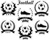 Football sport icons — Stock Vector