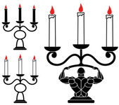 Retro Candlestick icons — Stock Vector