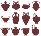 Ancient vases icons — Vettoriale Stock