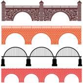 Conjunto de símbolos de arquitectura puente — Vector de stock