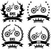 BMX sport icons set — Vector de stock