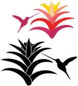 Sinek kuşu Icons set — Stok Vektör