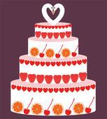 Holiday Cake, Celebration cake — Stock Vector