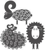 卡通羊动物 — 图库矢量图片