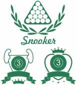 Snooker sport icons set — Stock Vector