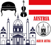 Austria Icons set — Stock Vector