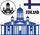 Finland Icons set — Stock Vector
