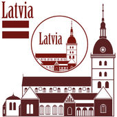 Latvia icons set — Stock Vector