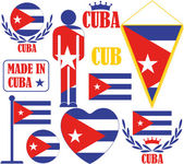 Cuba Icons set — Stock Vector