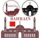Bahrain Icons set — Stock Vector