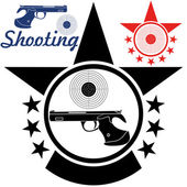 Sports shooting icons set — Stock Vector