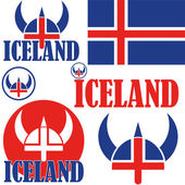Iceland Icons set — Stock Vector