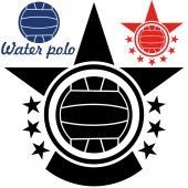 Water polo icons set — Stock Vector