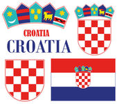 Croatia Icons set — Stock Vector