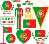 Portugal Icons set — Stock Vector