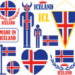 Iceland icons set — Stock Vector #70815847