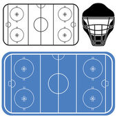 Hokejové ikony nastavit — Stock vektor