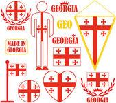 Georgia icons set — Stock Vector