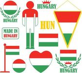 Hungary icons set — Stock Vector