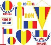 Romania icons set — Stock Vector