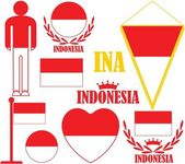 Indonesia icons set — Stock Vector