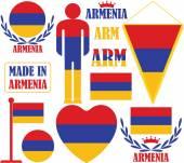 Armenia icons set — Stock Vector
