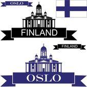 Finland flat icon set — Stock Vector