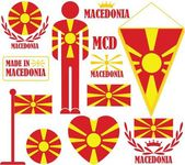 Macedonia flat icon set — Stock Vector