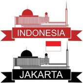 Indonesia flat icon set — Stock Vector