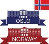 Norway flat icon set — Stock Vector
