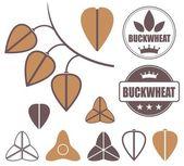 Buckwheat icons set — Stock Vector