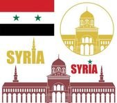 Syria icons set — Stock Vector