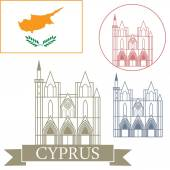 Cyprus  icons set — Stock Vector