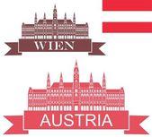 Austria  icons set — Stock Vector