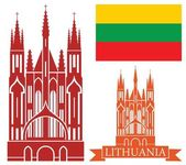 Lithuania  icons set — Stock Vector