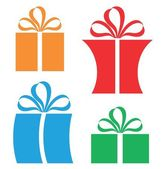 Gift Package  icons set — Stock Vector