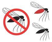 Mosquito  icons set — Vetor de Stock