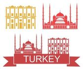 Turkey  icons set — Stock Vector