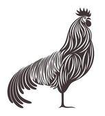 Rooster, symbol, icon — Cтоковый вектор