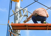 Construction worker on construction site. — Stock Photo
