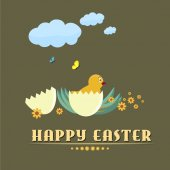 Happy easter background no.2 — 图库矢量图片