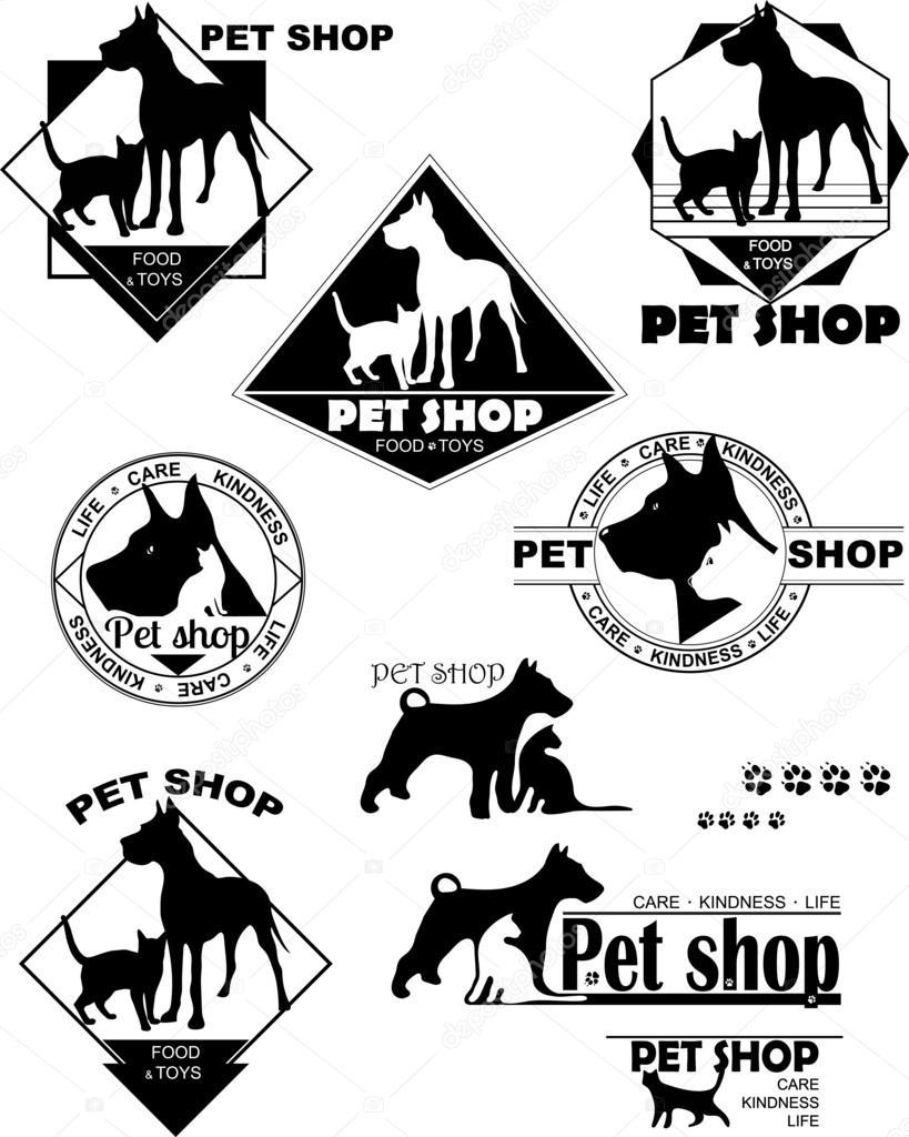 pies kot logo sklep zoologiczny opieki życzliwości