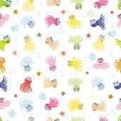Sea pattern, octopus, summer, underwater world — Stock Vector