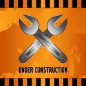 Under construction — Stockvektor