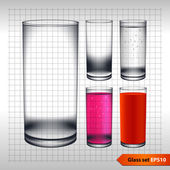 Transparentní skla — Stock vektor