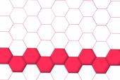 Hexagon bottom line magenta and grid — Stock Photo