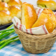 Russian pastries (pirogi) filled with eggs and green onion, closeup — Stock Photo #76041967