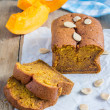 Loaf of fresh baked homemade pumpkin bread — Stock Photo #76270821