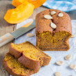 Loaf of fresh baked homemade pumpkin bread — Stock Photo #76270833